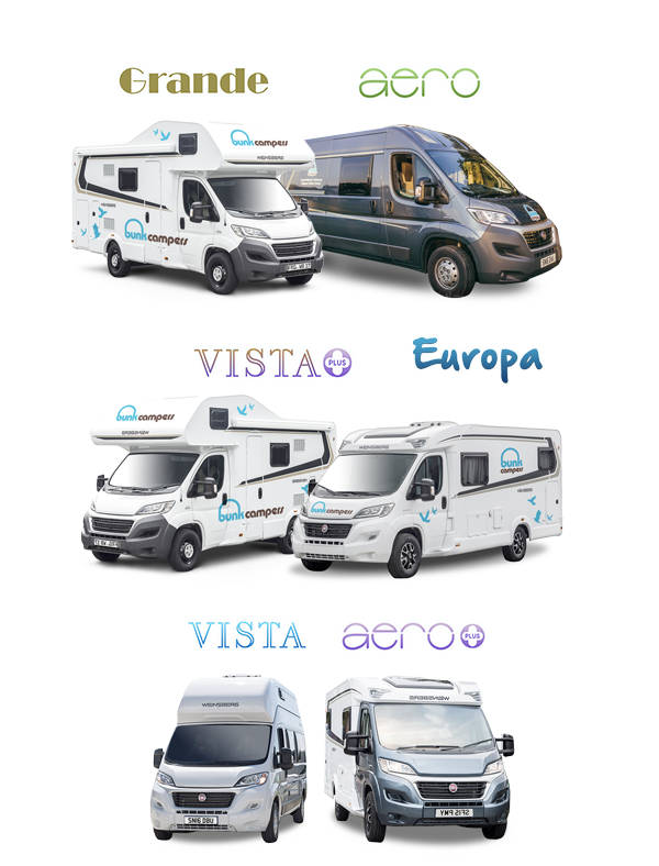 0c1c4b8d0a Choose from our large modern fleet of 2-6 berth campervans   motorhomes to  suit all budgets.