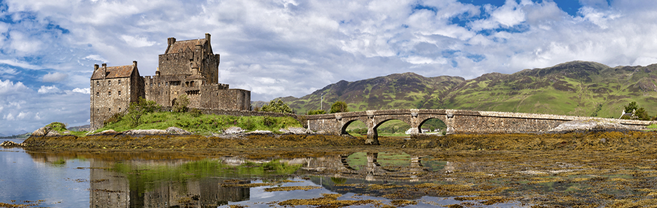 Visit Eilean Donan Castle, Scotland, with Bunk Campers.