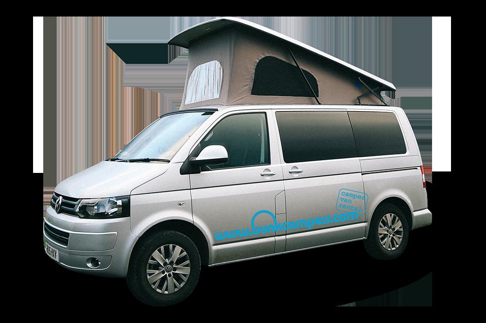 Bunk Campers | Nomad – 2 Person VW Campervan Hire | VW