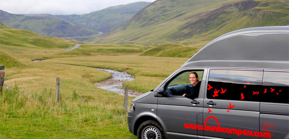 5 destinations to discover on board a campervan in scotland. Black Bedroom Furniture Sets. Home Design Ideas