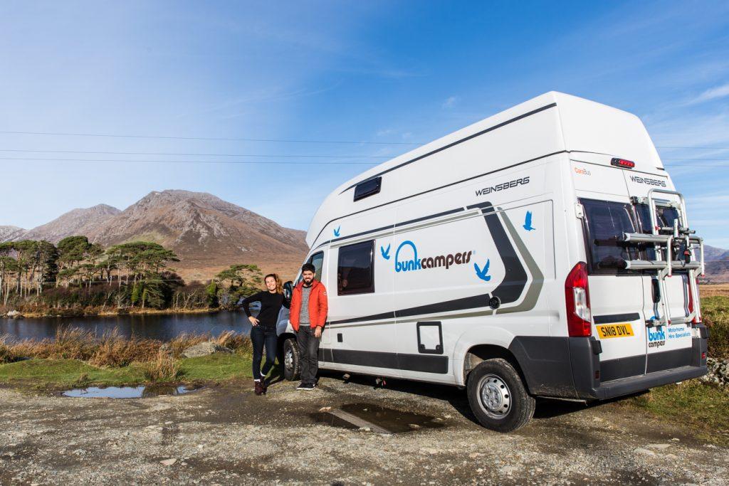 romantische camping ferien in irland wohnmobile mieten. Black Bedroom Furniture Sets. Home Design Ideas
