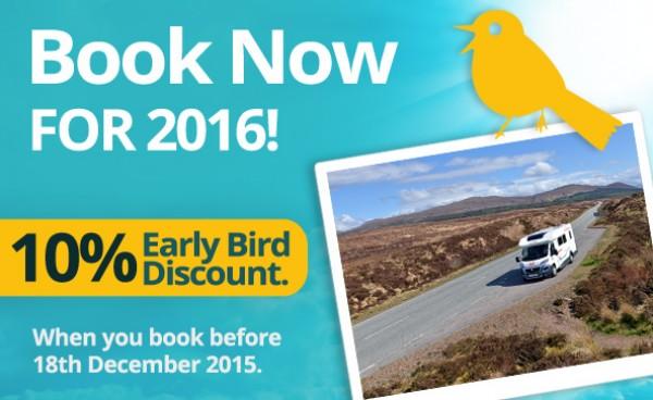 campervan hire 2016 early bird discount