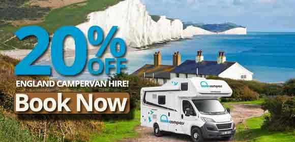 20% off England campervan hire