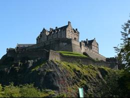 Edinburgh castle by motorhome