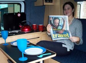 Interior - Budget campervan hire - Bunk Campers