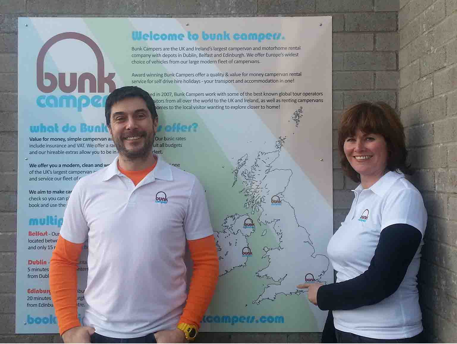 Bunk Campers - Campervan Hire - Keith and Louise