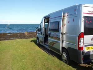 Campervan Hire in Ireland - Aero campervan on the Irish coast