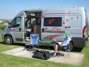 Aero - 2 person campervan hire Ireland
