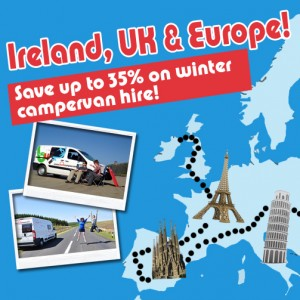 Tour Europe this Winter and enjoy up to 35% off Scotland & Ireland Campervan Hire