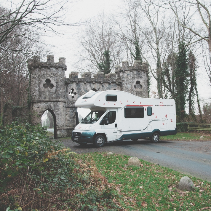 Visit Ireland's castles with campervan hire in Ireland from Bunk Campers