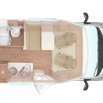 Bunk Campers | Aero Plus Day Layout