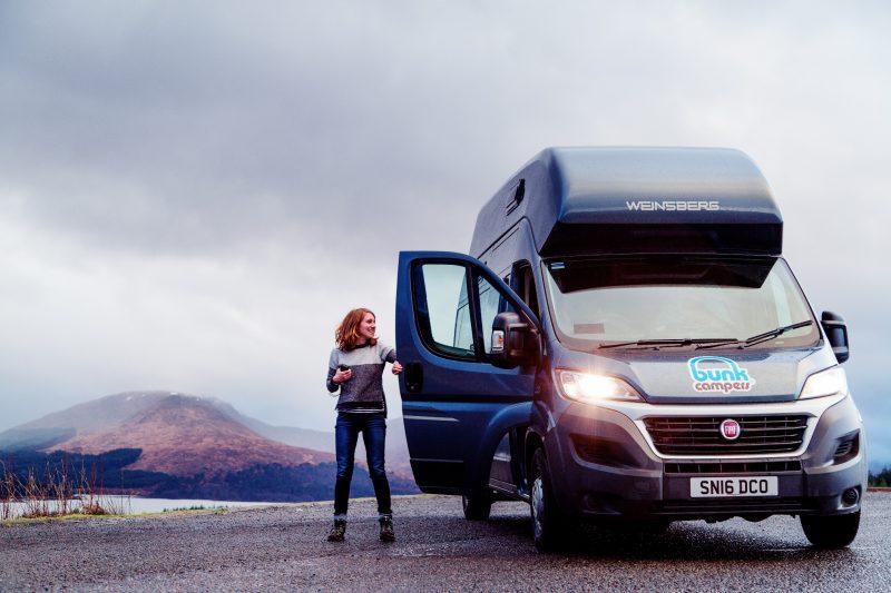 Vista 4 person campervan for hire
