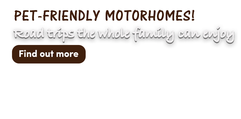 Pet friendly motorhome png