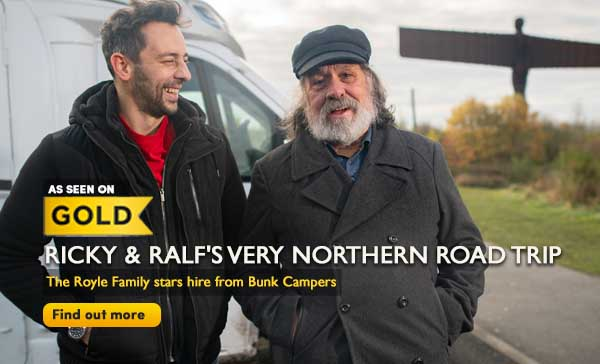 Ricky and Ralf hire a Bunk Camper for a Very Northern Road Trip
