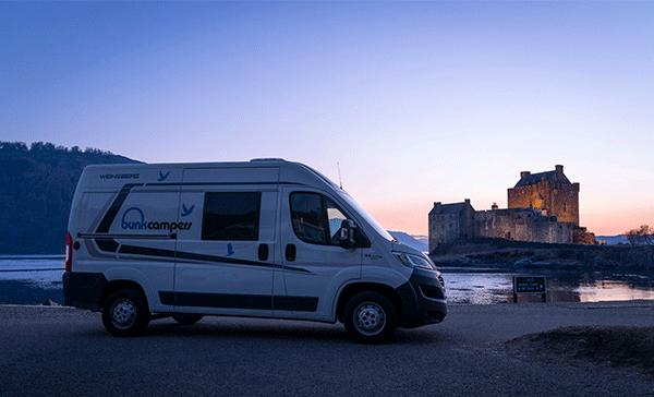 Discover Eilean Donan Castle in Scotland with campervan hire