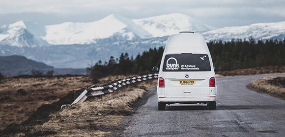 Campervan hire Scotland tourist destinations
